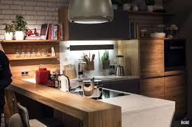 kitchen island natural wooden breakfast bar seems natural