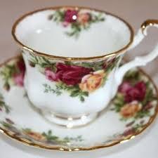 country roses tea set tea dinnerware vintage royal country roses tea cup bone