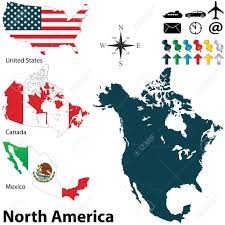 United States Map Clip Art by 31 031 North America Map Stock Vector Illustration And Royalty