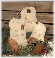 set 3 kringle sack primitive ornaments ornaments ornaments