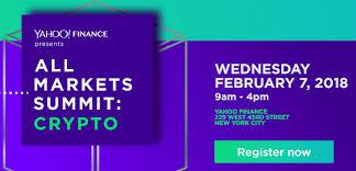 Yahoo Finance Yahoo Finance Crypto Summit On 7 Feb Nyc Ripple Ceo To Speak There