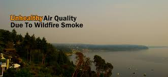 Washington State Wildfire Air Quality by Weather Geek Washington Wildfires Smoking Up The Puget Sound Air