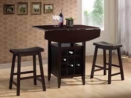 drop leaf bar table baxton studio reynolds 3 piece modern drop leaf pub set with wine rack
