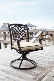 Patio Dining Chairs With Cushions Darby Home Co Hanson Swivel Rocker Patio Dining Chair With Cushion