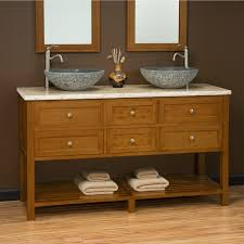 60 taren bamboo double vessel sink vanity bathroom zoom loversiq