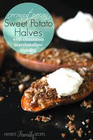 coconut pecan sweet potato halves favorite family recipes