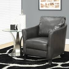 Faux Leather Accent Chair Piet Leather Accent Chair Grey Armchair Contemporary Accent Chair