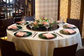 Formal Table Settings Formal Table Setting With Flower Decoration Stock Photo Image Of
