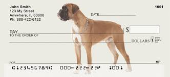 100 boxer dog boxer checks boxer dog personal checks