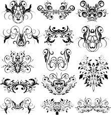 ornamental floral elements stock vector vector graphics