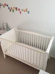 White Sleigh Cot Bed Sleigh Cot Bed White For Enchanting Cotbeds Nursery Furniture