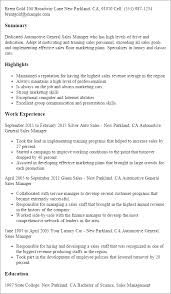 professional automotive general sales manager templates to