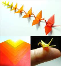 micro origami cranes autumn color study by maichan art on deviantart