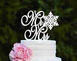 snowflake cake topper wedding cake topper snowmen with banner christmas wedding