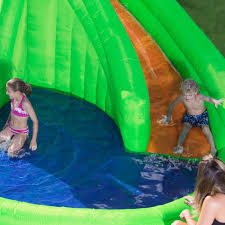 crocodile isle inflatable water park by blast zone