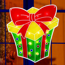 Neon Christmas Window Decorations by Christmas Window Decorations Holiday Lighted Window Decorations