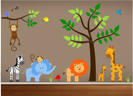 Jungle Nursery Wall Decor Jungle Theme Nursery Wall Decal Jungle Bedroom