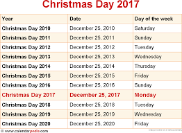 when is day 2017 2018 dates of day