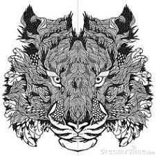 zentangle tiger vector illustration stock vector zentangle