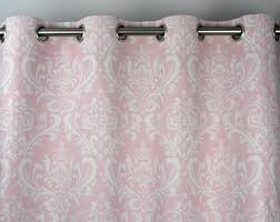 Light Pink Curtains by Bella Light Pale Pink White Osborne Damask Curtains Grommet