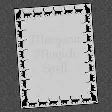 black cat bos blank page digital downloadsamhain halloween book