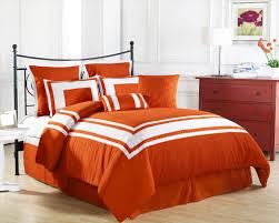 queen bed orange bedding queen steel factor