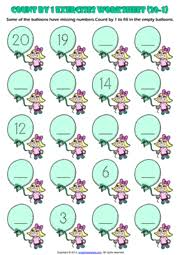 Grade 1 Counting To 20 Worksheets Grade 1 Counting Printable Maths Worksheets And Exercises