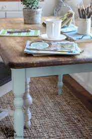 Two Tone Pedestal Dining Table Cottage Charm Creations Painting A Two Tone Table Home Decor