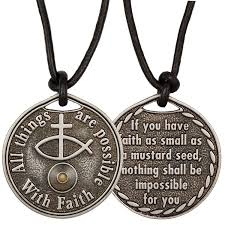 faith of a mustard seed necklace mustard seed coin necklace faith jewelry