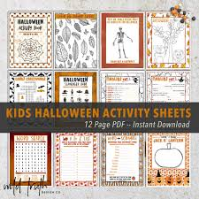 Halloween Crossword Puzzles Printable by Holiday Party Games For All Ages Printable Instant Downloads