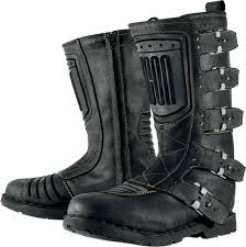black motorcycle boots mens icon one thousand 1000 elsinore johnny black leather