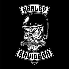 orozco design harley davidson cafe skull poster