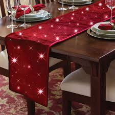 cordless twinkling table runner the green head