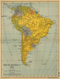 Map Of Latin America by Of South America 1910