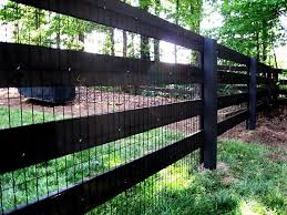 Farm Ideas Exterior Farmhouse With Window Window Post And Rail Fence - rough sawn wood 4 rail fence stained black with attached wire