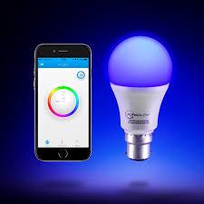 color changing flood light bulb auraglow 9w bluetooth colour changing led smart light bulb b22