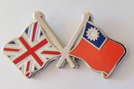 Flag Taiwan Republic Of China Taiwan And United Kingdom Friendship Flag Badge