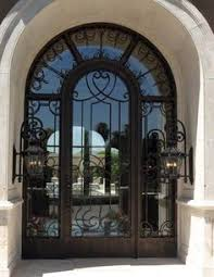 metal front doors with glass 64x98 blossom iron double door beautiful wrought iron front entry
