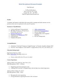 Job Resume Outline Front Desk Clerk Resume Sample Medical Front Desk Job Description