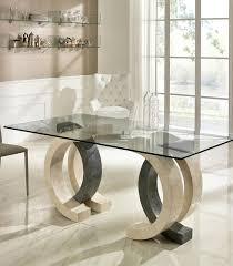 tavoli di cristallo sala da pranzo tavolini da salotto in pietra fossile e cristallo duzzle
