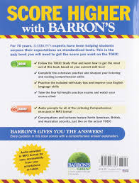buy barron u0027s toeic book online at low prices in india barron u0027s