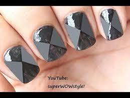 crossed matte nail art design make matte polish at home youtube