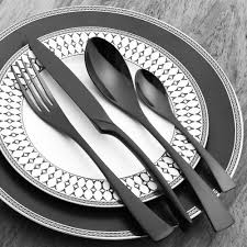 24 pieces black silverware sets 18 10 stainless steel gold cutlery
