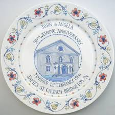 50th wedding anniversary plate 50th wedding anniversary plate painted plates