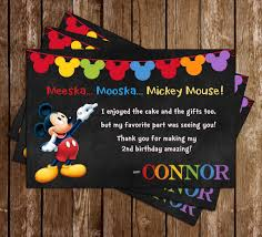 mickey mouse thank you cards novel concept designs mickey mouse chalkboard birthday