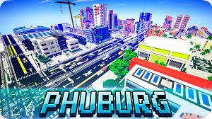 City Map Minecraft Modern Phuburg City Map Cinematic U0026 Download Youtube