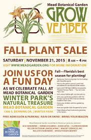 florida federation of garden clubs growvember fall plant sale