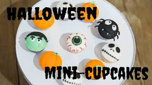 halloween mini cupcakes frankenstein spinne auge jack skellington
