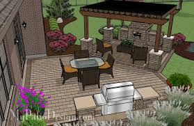 Bbq Patio Designs Pergola Covered Fireplace Patio Tinkerturf