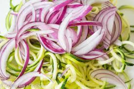 zucchini noodle salad with honey dijon mustard dressing